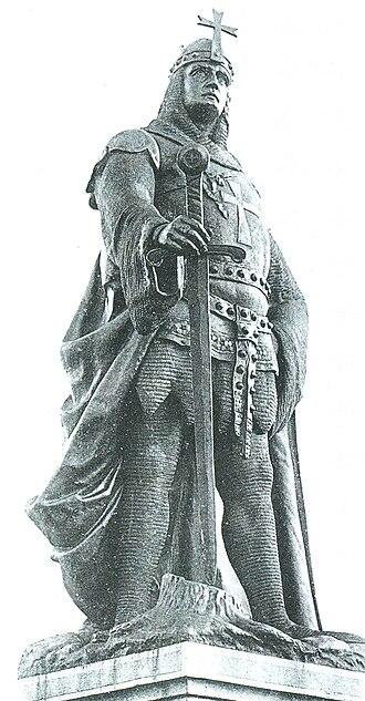 Brandenburg–Pomeranian conflict - Albert the Bear, statue in Ballenstedt