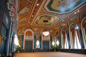 Fairmont Royal York - The Ballroom is an event space at the hotel which features an oil-painted ceiling.
