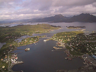 Vestvågøy - View of Ballstad in Vestvågøy