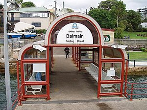 Inner Harbour ferry services - Image: Balmain East Wharf 2