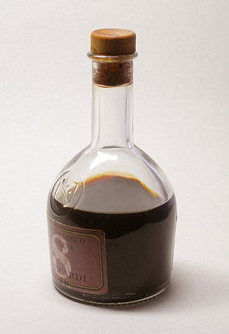 Balsamic vinegar - A bottle of Aceto Balsamico di Modena, aged for eight years