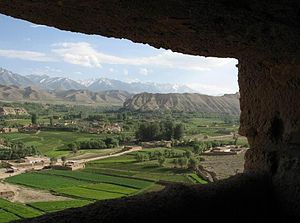 English: A View of Bamyan Valley Near the Big ...