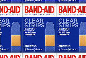 English: Band-Aid logo designed by Dresser Joh...