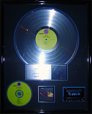 Band of Gypsys - Image: Band of Gypsys platinum record, Hard Rock Cafe Hollywood