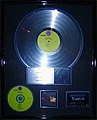 Band of Gypsys platinum record, Hard Rock Cafe Hollywood.JPG