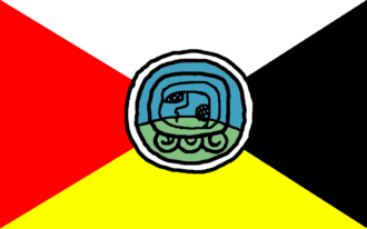 Flag of Guatemala - Bandera de los Pueblos, flag attributed to indigenous peoples.
