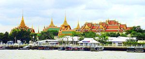 Grand Palace - The Grand Palace from across the Chao Phraya River