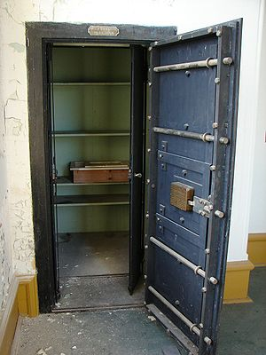 Small bank vault or strongroom from 1901.