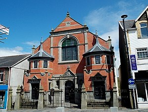 Bargoed - Baptist chapel converted to Public Library