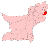 Map of Balochistan with Barkhan District highlighted
