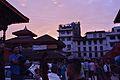 Basantapur durbar square at dusk.jpg