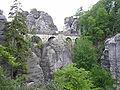 Bastei - Die Basteibrücke von der Felsenburg.jpg