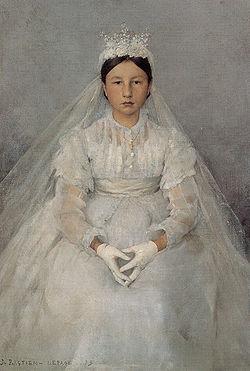 BASTIEN-Lepage, Jules La Communiante 1875