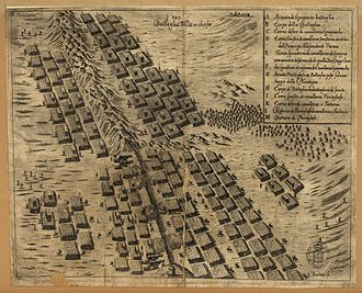 Battle of Montes Claros - Contemporary Italian engraving of the battle