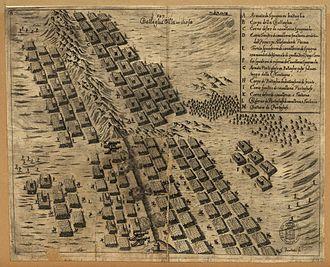 English expedition to Portugal (1662–1668) - Image: Batalha de Montes Claros gravura