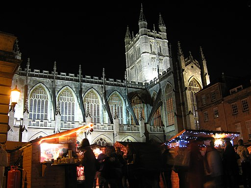 Bath Abbey, christmas market