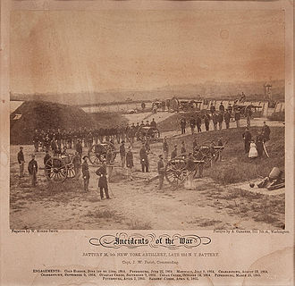 9th New York Heavy Artillery Regiment - Battery M in 1865