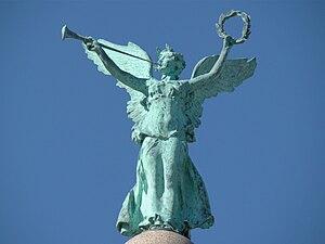 "Battle Monument (West Point) - Image: Battle Monument's ""Fame"" at West Point"