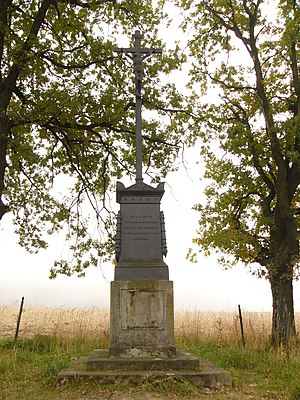 Battle of Domstadtl - Image: Battle of Domstadtl memorial