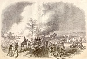 James Gwyn - Depiction of the Battle of Seven Pines,  Harper's Magazine, 16 August 1862 issue