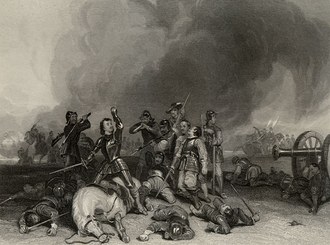 Battle of Hopton Heath - The Battle of Hopton Heath, engraved by J. T. Willmore after George Cattermole