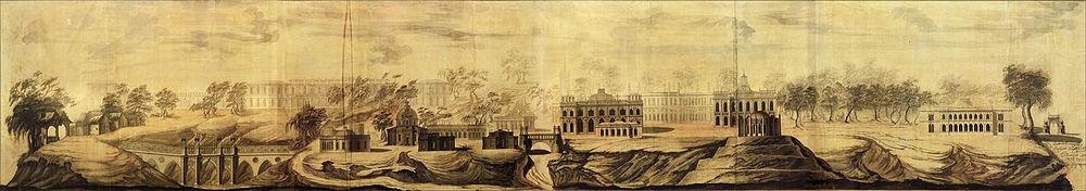 Василий Баженов. «Вид Царицына села». Проектный чертёж. 1776