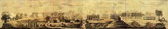 Vasily Bazhenov - Bazhenov's 1776 panorama of Tsaritsyno