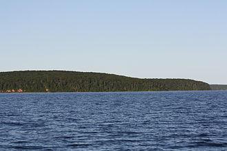 "Bear Island (Wisconsin) - Bear Island (bear ""head"" is right and ""body"" is left"")"