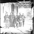 Beaufort, S.C. Gen. Isaac I. Stevens (seated) and staff on porch of a house LOC cwpb.00755.jpg