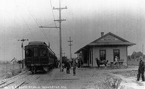 Beaverton, Oregon - Beaverton Depot for Oregon Electric Railway, ca. 1911
