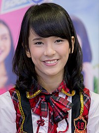 Beby Chaesara Anadila at JKT48 Press Conference - Meet and Greet NgayogyakarLove; 2013.jpg