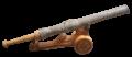 Bedil kuno atau meriam kuno Jawa cetbang, nomor 2, dengan dudukan.png