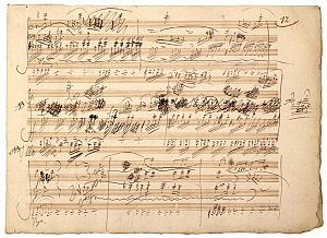 Manuscript of piano trio opus 70 by L.v. Beethoven