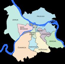 mapa beograda cukarica Ada Ciganlija   Wikipedia mapa beograda cukarica