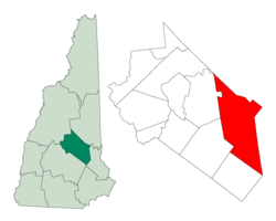 Location in Belknap County, نیو ہیمپشائر
