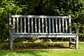 Bench seat in Pleasure Grounds Parham House, West Sussex, England.jpg
