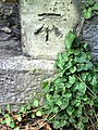 Benchmark on wall of ^44A Spring Road - geograph.org.uk - 2094381.jpg