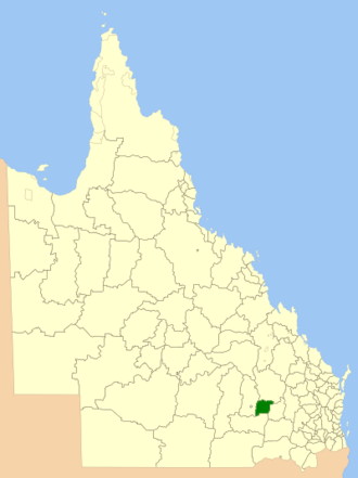 Shire of Bendemere - Location within Queensland