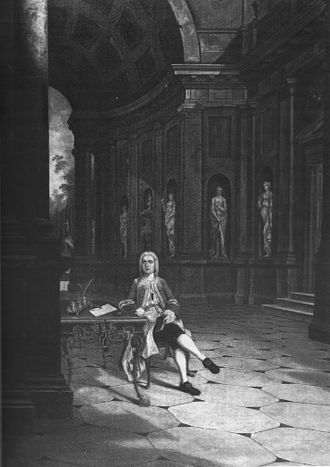 Woodcote Park - Benedict Leonard Calvert, younger son of Benedict Calvert, 4th Baron Baltimore, painted by Francis Brerewood at the family home of Woodcote Park, Surrey, c1726.