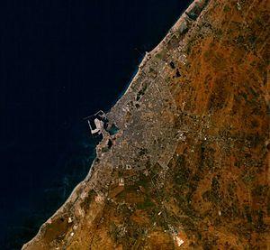 2013 Benghazi conflict - Satellite image of Benghazi