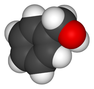 Benzyl alcohol - Image: Benzyl alcohol 3D vd W