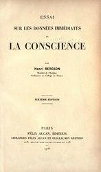Henri Bergson: Essai sur les données immédiates de la conscience.