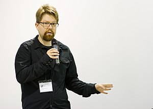 Erik Möller - Erik Möller addressing the 2012 Berlin Hackathon
