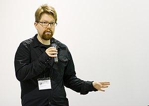 Erik Möller - Erik Möller addressing the 2012 Berlin Hackathon