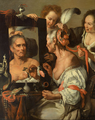 Bernardo Strozzi - Vanitas or The old Coquette