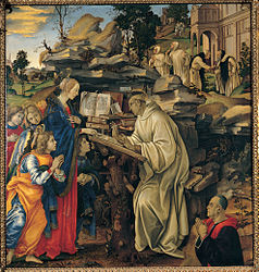 Filippino Lippi: Apparition of the Virgin to St Bernard