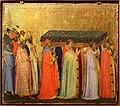 Bernardo daddi, storie di santo stefano, 1337-38 (musei vaticani) 08 traslazione delle reliquie e roma 1.jpg