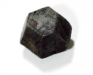 Betafite - Betafite dodecahedron, Locality: Bancroft, Ontario, Canada