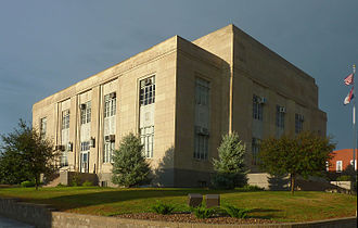 Bethany, Missouri - Harrison County Courthouse in downtown Bethany