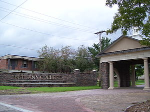 Bethany College (Kansas) - An entrance to Bethany College
